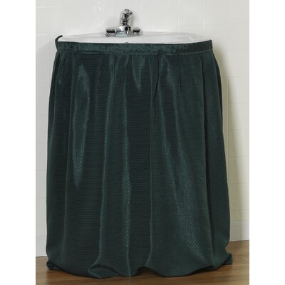 Lauren 100% Polyester Dobby Sink Skirt Color: Evergreen