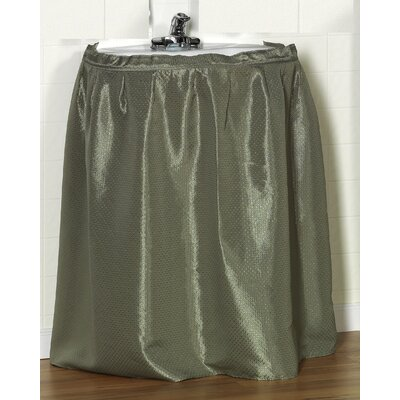 Esther 100% Polyester Dobby Sink Skirt Color: Sage
