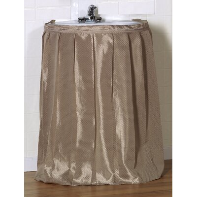 Esther 100% Polyester Dobby Sink Skirt Color: Linen