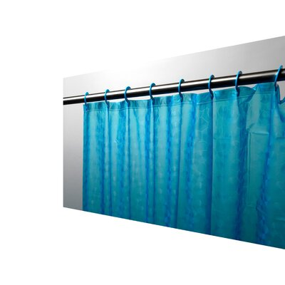 PEVA Shower Curtain Color: Cerulean Blue
