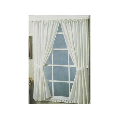 Carnation Home Fashions Bathroom Rod Pocket Curtain Panel  (Set of 2) - Color: Jade at Sears.com