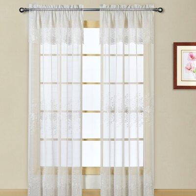 United Curtain Co. Marianna Rod Pocket Single Curtain Panel - Size ...