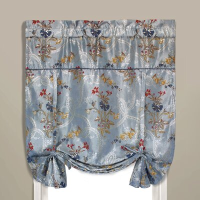Jewel Room Darkening Tie-Up Shade Color: Blue