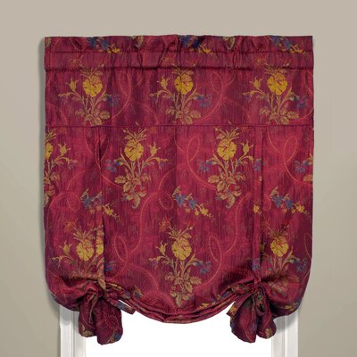 Jewel Room Darkening Tie-Up Shade Color: Burgundy