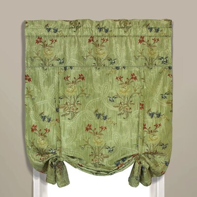 Jewel Room Darkening Tie-Up Shade Color: Green