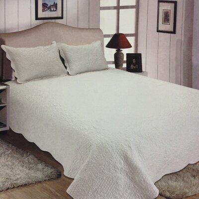 Quinn Reversible Quilt Set Size: Full/Queen, Color: White