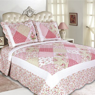 Emily Reversible Quilt Set Size: King