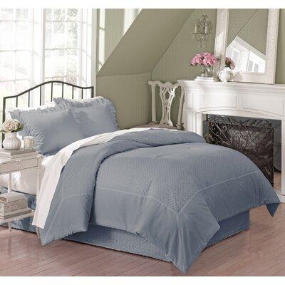 Vienna Eyelet Comforter Size: King