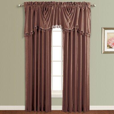 United Curtain Co. Anna Silk Rod Pocket Curtain Panel (Set of 6) - Size: 63