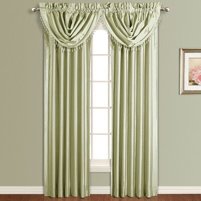 "United Curtain Co. Anna Silk Rod Pocket Curtain Single Panel (Set of 3) - Size: 84"" H x 54"" W, Color: White at Sears.com"