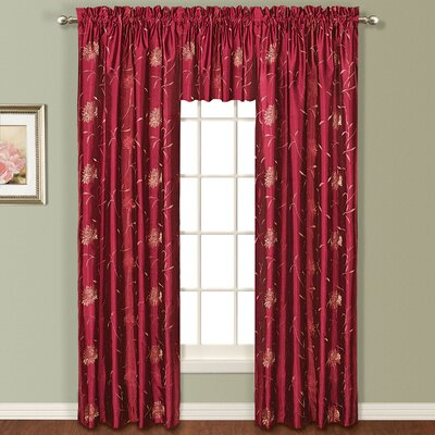 """United Curtain Co. Avalon Silk Rod Pocket Curtain Panel (Set of 4) - Size: 63"""" H x 54"""" W, Color: Sage at Sears.com"""