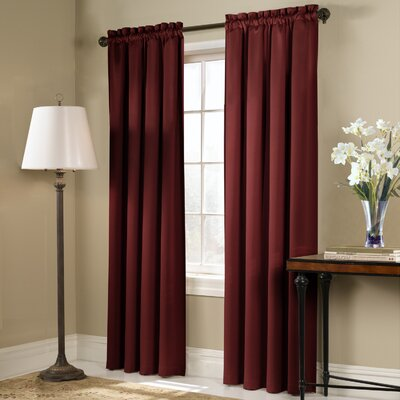 "United Curtain Co. Blackstone Panel - Color: Brick, Size: 84"" H x 54"" W at Sears.com"