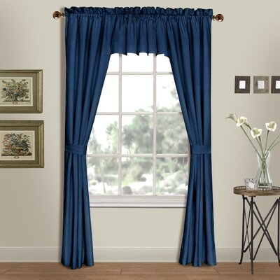 """United Curtain Co. Westwood Rod Pocket Curtain Panels (Set of 3) - Size: 63"""" L x 54"""" W, Color: Natural"""