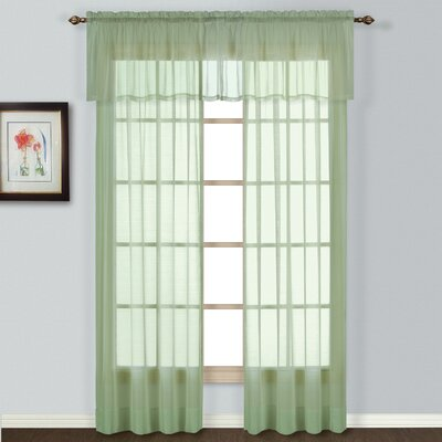 "United Curtain Co. Batiste Window Rod Pocket Curtain Panel (Set of 4) - Size: 72"" H x 54"" W x 0.2"" D, Color: Yellow at Sears.com"