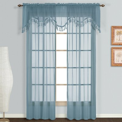United Curtain Co. Monte Carlo Voile Rod Pocket Curtain Panels (Set of 3) - Size: 63