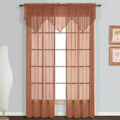United Curtain Co. Monte Carlo Voile Rod Pocket Curtain Panels (Set of 11) - Size: 84