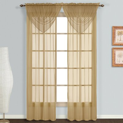 United Curtain Co. Monte Carlo Voile Rod Pocket Curtain Panels (Set of 6) - Size: 63