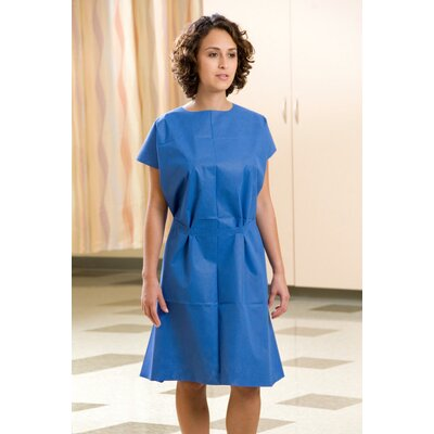 """Graham Medical 30"""" x 42"""" Fabriwear� Exam Gowns Nonwoven, Attached Belt, Sewn Shoulder in Blue at Sears.com"""