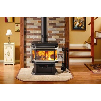 Osburn 1800 Wood Stove with Louvre and Trivet + Door Overlay