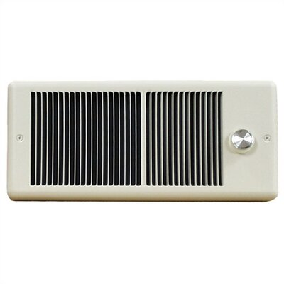 TPI Low Profile 2,000 Watt Wall Insert Electric Fan Heater with Wall Box and Single Pole Thermostat - Finish: Ivory
