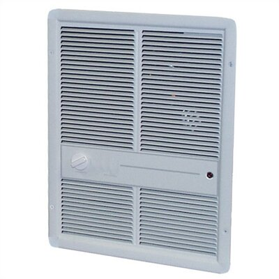 TPI Double Pole 10 240 BTU 10.8 Amp Fan Forced Electric Space Heater - Finish: White