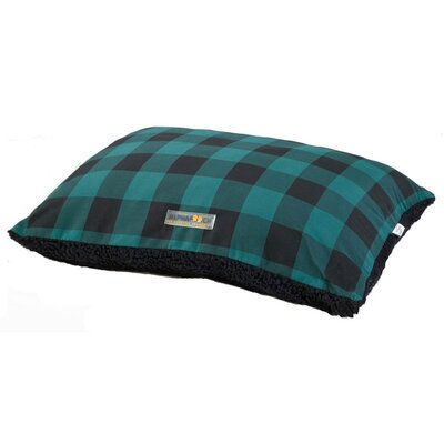 Softie Dog Pillow Bed Color: Green/Black, Size: 36 L x 27 W