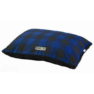 Softie Dog Pillow Bed Size: 36 L x 27 W, Color: Blue/Black
