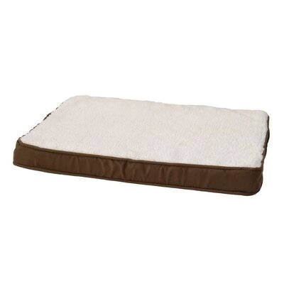 Orthopedic Lounger Dog Pillow Size: Small (24 L x 18 W), Color: Coco