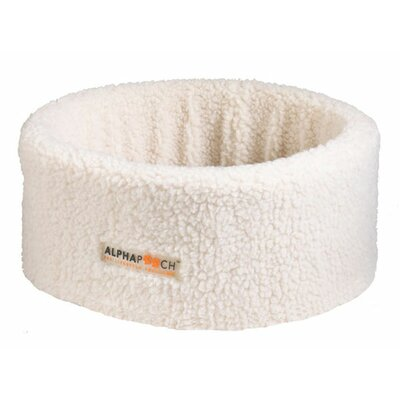 Alphapurr by AlphaPooch Siesta Cat Bowl Size: Medium (20 L x 20 W), Color: Ivory