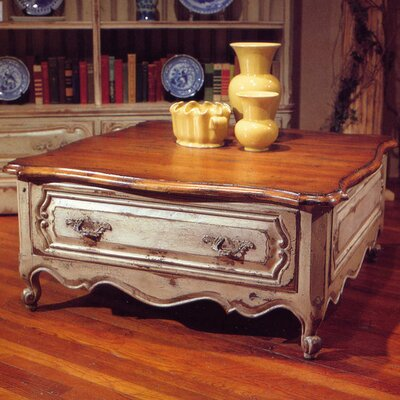 French Coffee Table Color: Classic Studio - Antique Honey/Silver