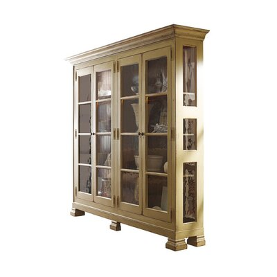 Aspen Lighted Curio Cabinet Color: Classic Studio - Graystone, Accents: Champagne