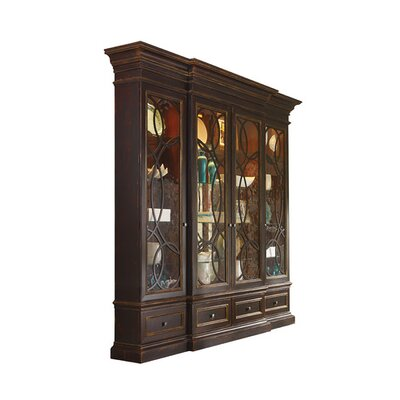 East Hampton Lighted China Cabinet with Glass Doors Color: Connoisseur - Devonshire, Accents: Champagne