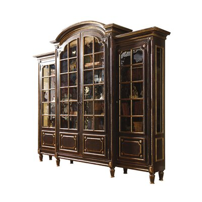 Innsbruck Breakfront Lighted China Cabinet Color: Connoisseur - Muslin, Accents: Silver