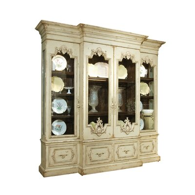 Biltmore Vanderbilt Grand Lighted China Cabinet Color: Connoisseur - Muslin, Accents: Silver