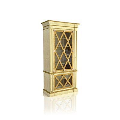 Le Havre Armoire Curio Cabinet Color: Classic Studio - Antique Honey, Accents: Champagne