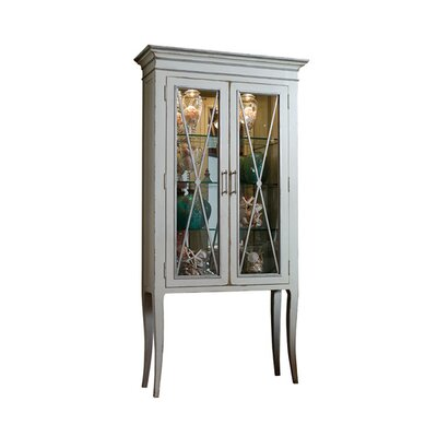 Adrienne Lighted Display Stand Color: Classic Studio - Graystone, Accents: Silver