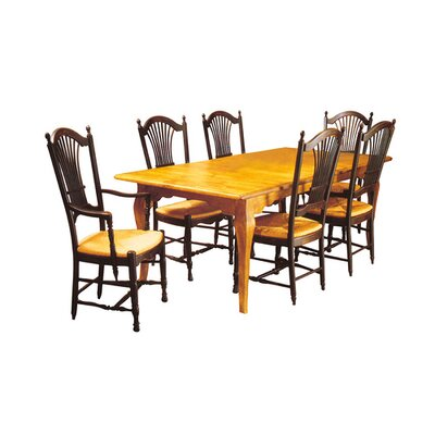 French Extendable Dining Table Color: Connoisseur - Devonshire, Accents: Gold