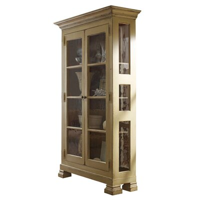 Aspen Lighted Curio Cabinet Color: Classic Studio - Warm Silver, Accents: Champagne