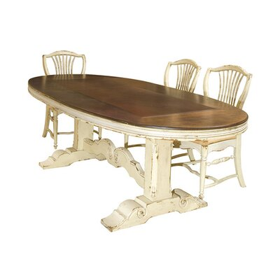 Southampton Top Dining Table Color: Connoisseur - Muslin, Accents: Silver