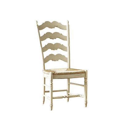 Ladderback Dining Chair Color: Classic Studio - Graystone, Accents: Champagne