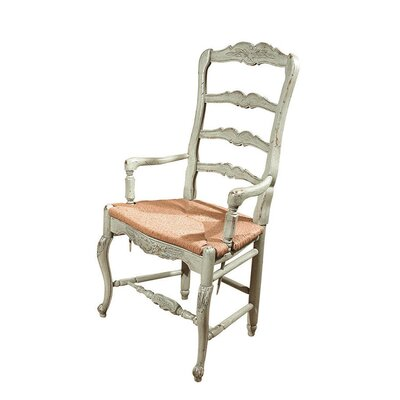 New Country French Dining Chair Color: Classic Studio - Graystone, Accents: Silver