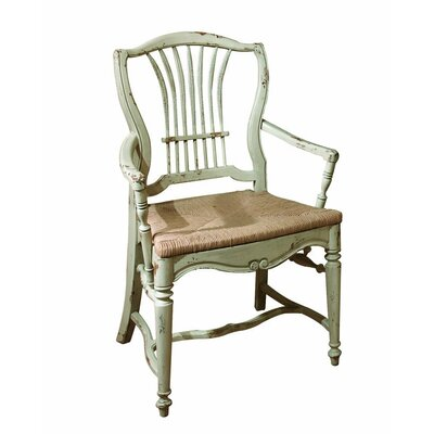 Wheat Dining Chair Color: Classic Studio - Graystone, Accents: Gold