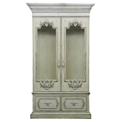 Biltmore Vanderbilt Lighted Curio Cabinet Color: Connoisseur - Muslin, Accents: Silver