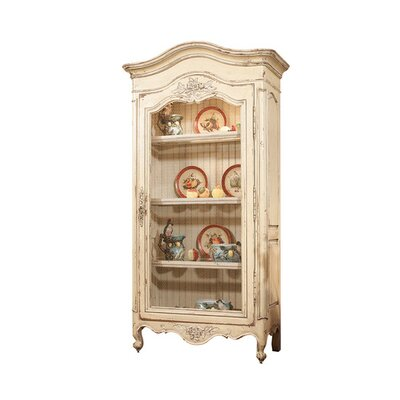 Leymaria Lighted Curio Cabinet Color: Connoisseur - Muslin, Accents: Champagne
