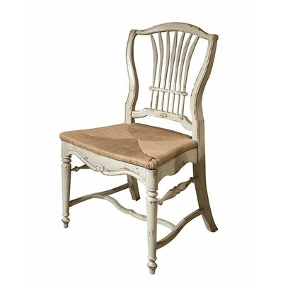 Wheat Dining Chair Color: Classic Studio - Graystone, Accents: Silver
