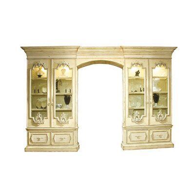 Biltmore Grand Approach Lighted China Cabinet Color: Connoisseur - Muslin, Accents: Silver