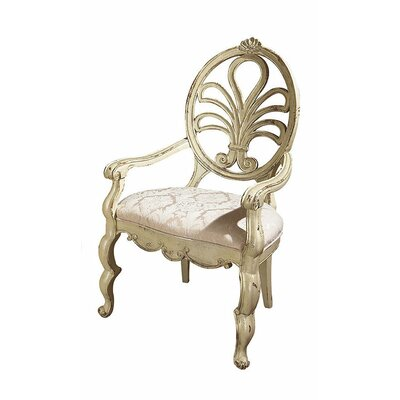 Adelaide Dining Chair Color: Connoisseur - Muslin, Accents: Silver