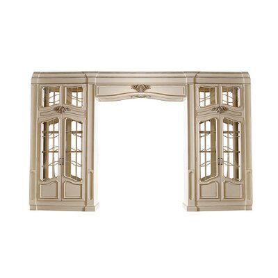 Biltmore Grand Entry China Cabinet Color: Classic Studio - GrayStone, Accents: Silver