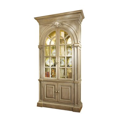 Shantelle China Cabinet Color: Connoisseur/Classic White, Accent: Silver