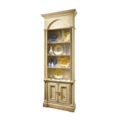 Cotswold China Cabinet Color: Connoisseur/Muslin, Accent: Silver